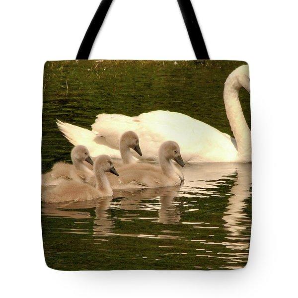 Family Swan  Tote Bag