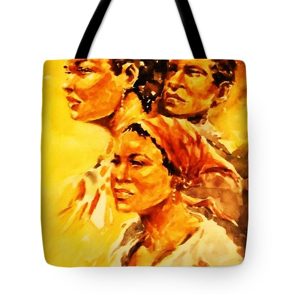 Tote Bag featuring the painting Family Ties by Al Brown