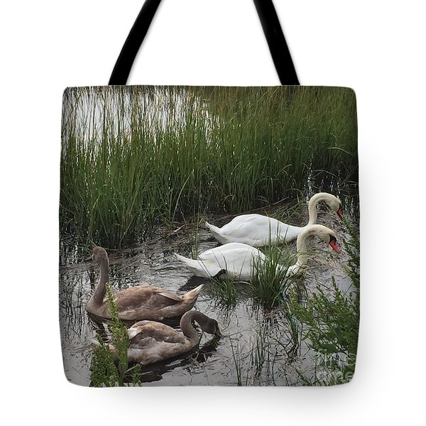 Family Time Tote Bag by Beth Saffer