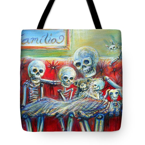Tote Bag featuring the painting Family Time by Heather Calderon