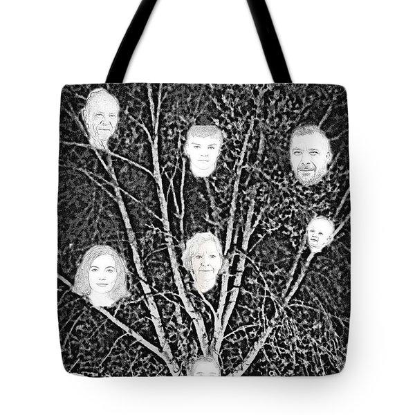 Family Tree Tote Bag by Diamante Lavendar