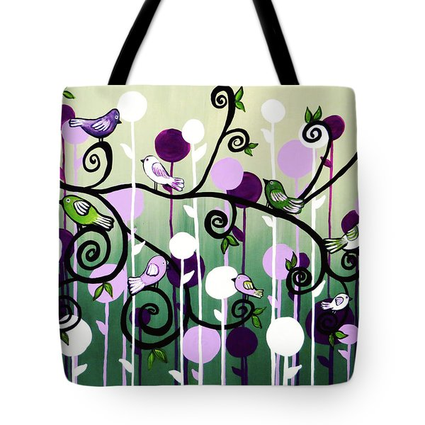 Tote Bag featuring the painting Family Tree by Teresa Wing