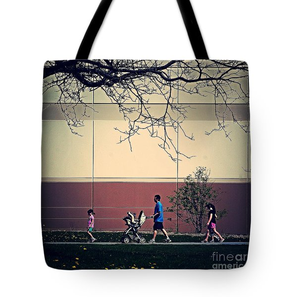 Family Walk To The Park Tote Bag