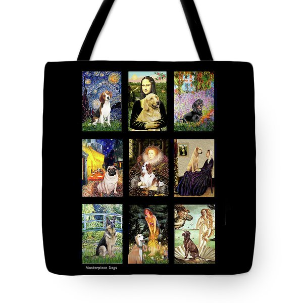 Famous Art Dogs #1 Tote Bag