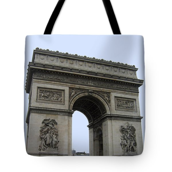 Tote Bag featuring the photograph Famous Gate Of Paris - Arc De France by Suhas Tavkar