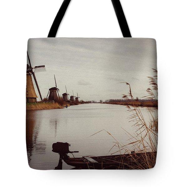Famous Windmills At Kinderdijk, Netherlands Tote Bag