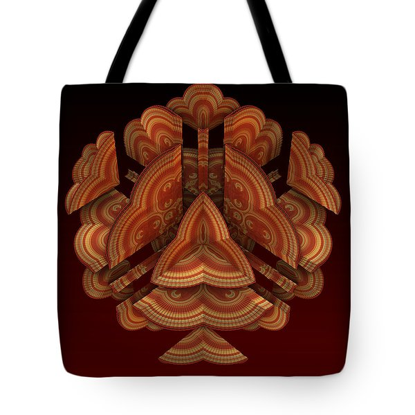 Tote Bag featuring the digital art Fan Dance by Lyle Hatch