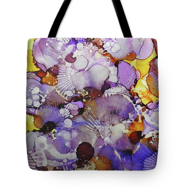 Tote Bag featuring the painting Fanburst Ink #3 by Sarajane Helm