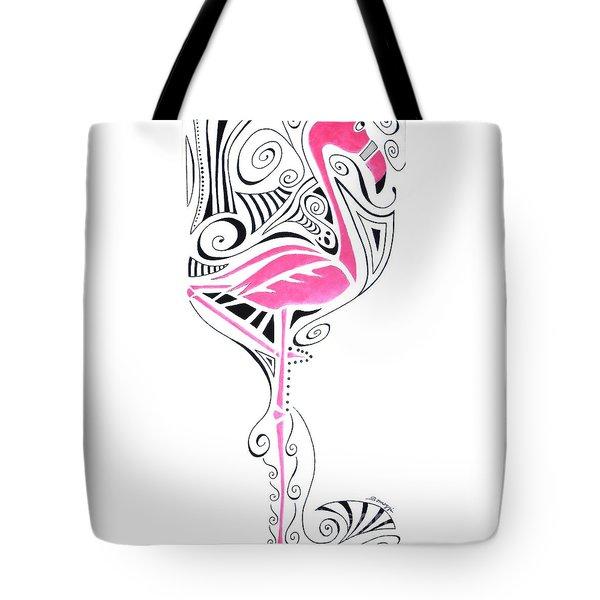 Fanciful Flamingo Tote Bag