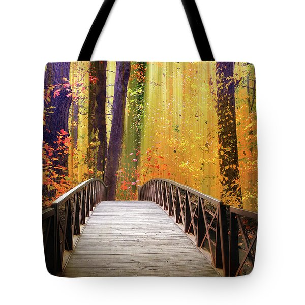 Tote Bag featuring the photograph Fanciful Footbridge by Jessica Jenney