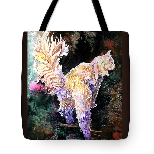 Tote Bag featuring the painting Fancy Britches by Sherry Shipley
