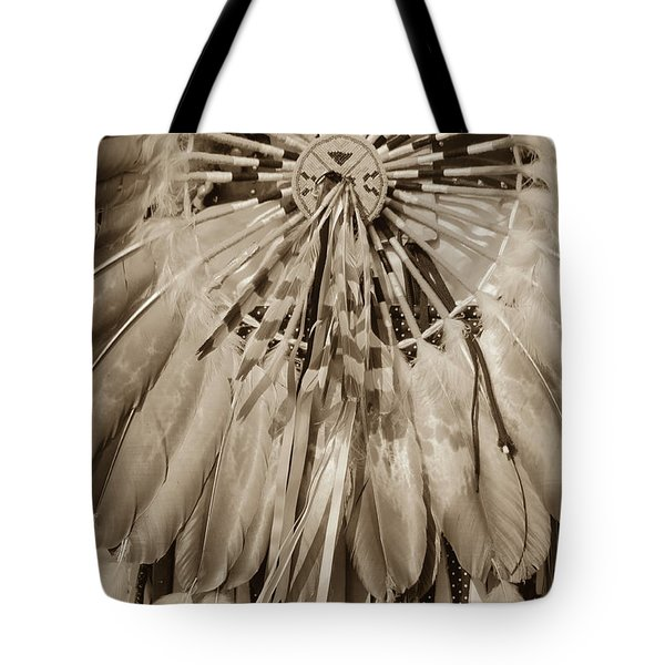 Fancy Dancer Male Sepia Tote Bag