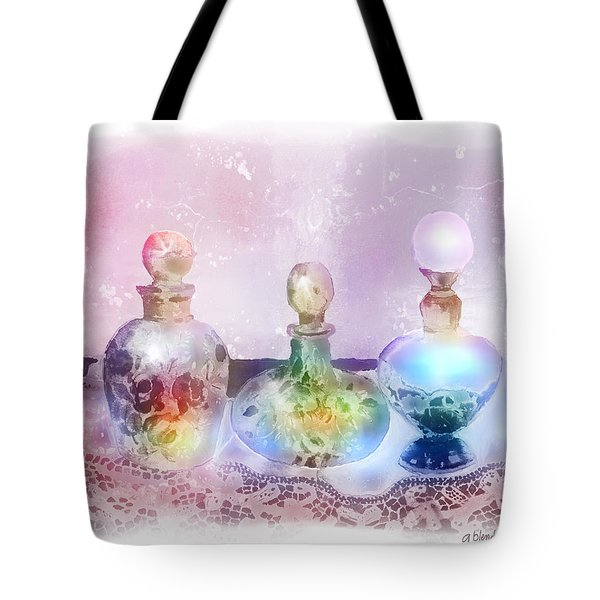 Fancy Perfume Bottles Tote Bag by Arline Wagner