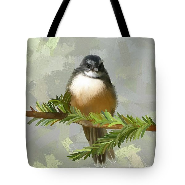 Tote Bag featuring the painting Fantail  by Ivana Westin