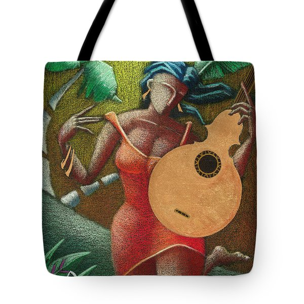 Tote Bag featuring the painting Fantasia Boricua by Oscar Ortiz