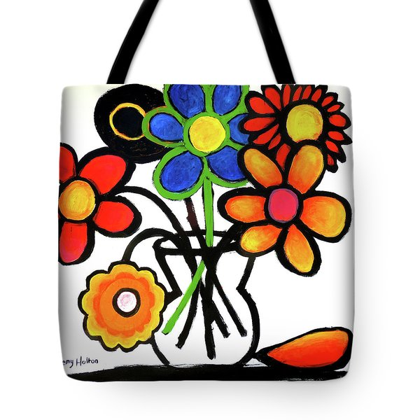 Tote Bag featuring the painting Fantastic Colour by Jeremy Holton