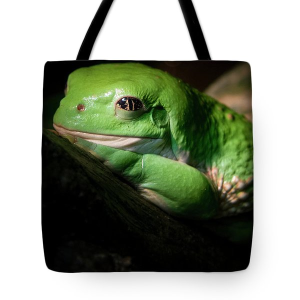 Tote Bag featuring the photograph Fantastic Green Frog by Jean Noren