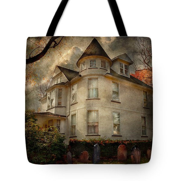 Fantasy - Haunted - The Caretakers House Tote Bag by Mike Savad