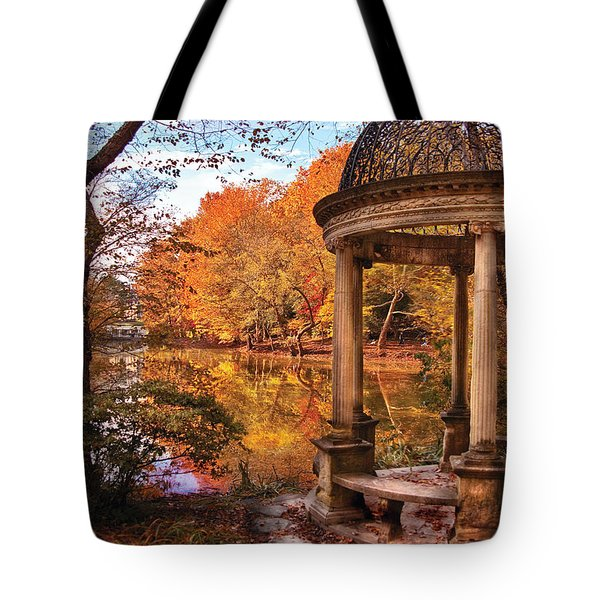 Fantasy - The Temple Tote Bag by Mike Savad