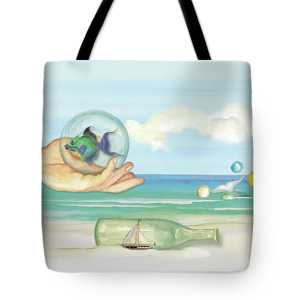 Fantasy At The Beach Tote Bag