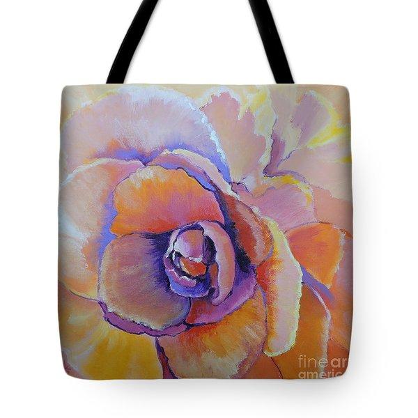 Fantasy Begonia Tote Bag by Jodie Marie Anne Richardson Traugott          aka jm-ART