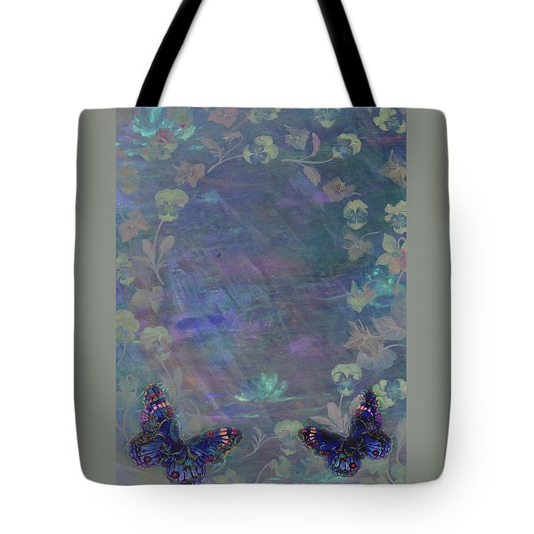 Fantasy Butterfly Painted Pansy Tote Bag