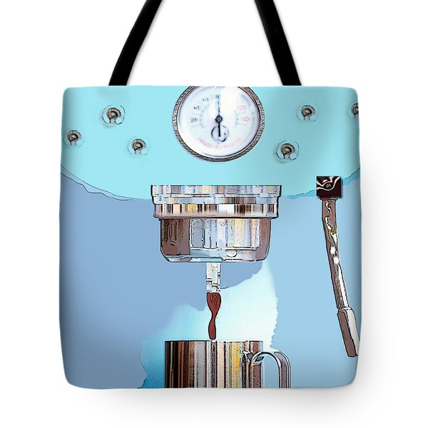Fantasy Espresso Machine Tote Bag by Marian Cates