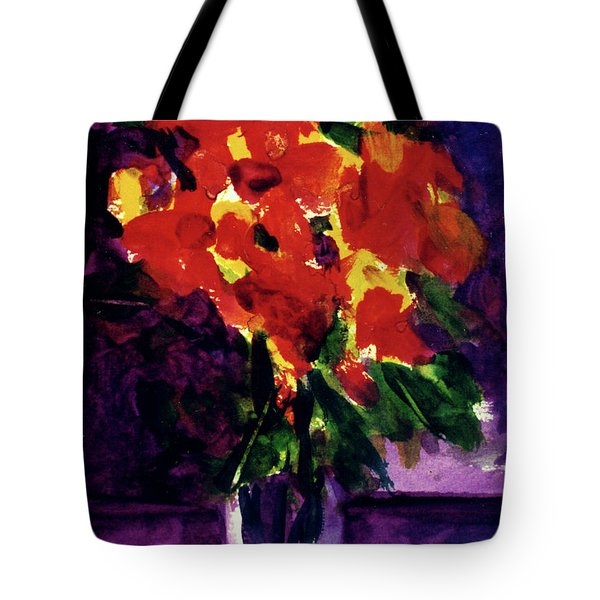 Fantasy Flowers  #107, Tote Bag by Donald k Hall