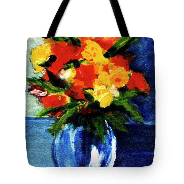Fantasy Flowers #117 Tote Bag by Donald k Hall
