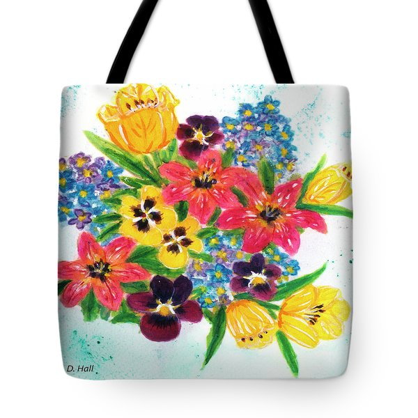 Fantasy Flowers #233 Tote Bag by Donald k Hall