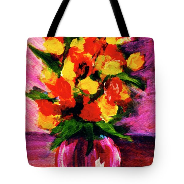 Fantasy Flowers Still Life #118, Tote Bag by Donald k Hall