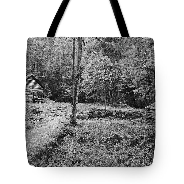 Fantasy Forest In Black And White Tote Bag by DigiArt Diaries by Vicky B Fuller