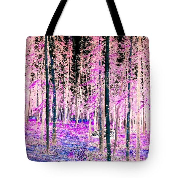 Fantasy Forest Tote Bag by Linda Bianic
