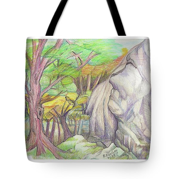 Fantasy Forest Rock Tote Bag by Ruth Renshaw