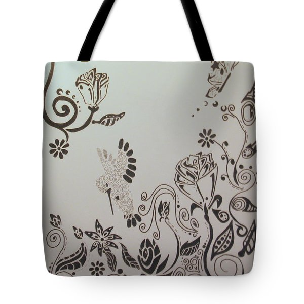 Fantasy Garden Tote Bag by Wendy Coulson
