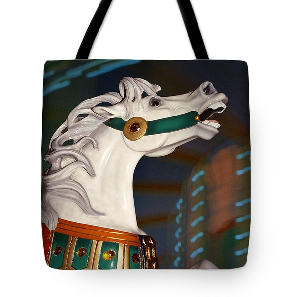 fantasy horses - Dappled Gray Dancer Tote Bag