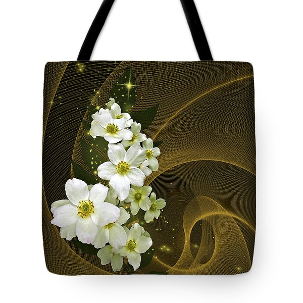 Tote Bag featuring the photograph Fantasy In Gold And White by Judy  Johnson