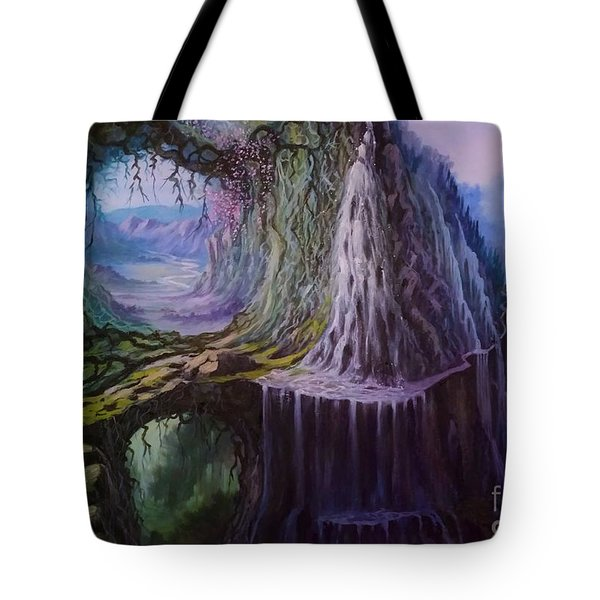 Tote Bag featuring the painting Fantasy Land by Rosario Piazza