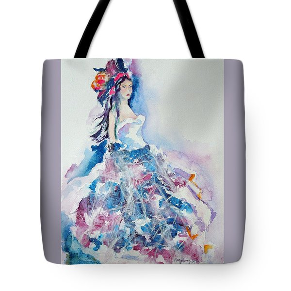 Tote Bag featuring the painting Fantasy Mist by Mary Haley-Rocks