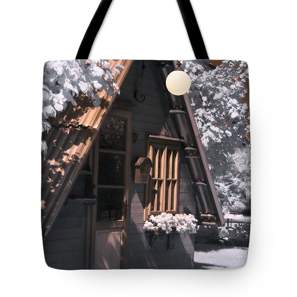 Fantasy Wooden House Tote Bag