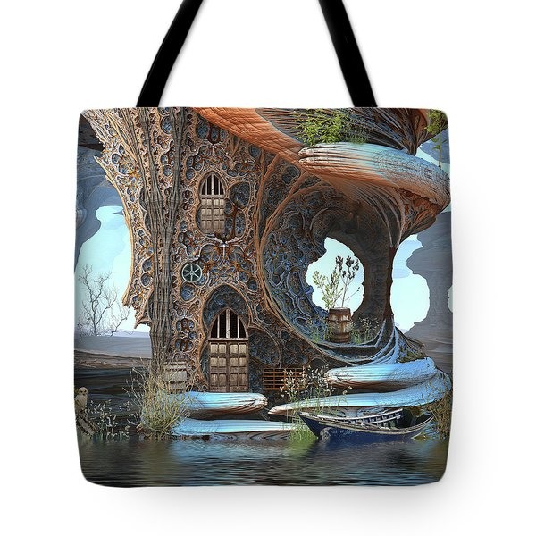 Fantasy Tree Cottage Tote Bag