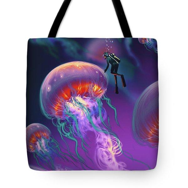 Fantasy Underworld Tote Bag