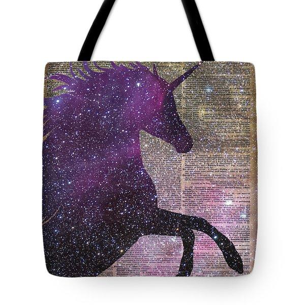 Fantasy Unicorn In The Space Tote Bag