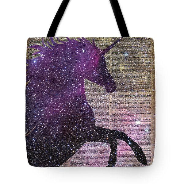Fantasy Unicorn In The Space Tote Bag by Jacob Kuch