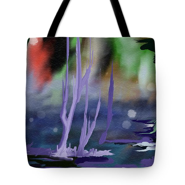 Tote Bag featuring the painting Fantasy With A Touch Of Reality by Rushan Ruzaick