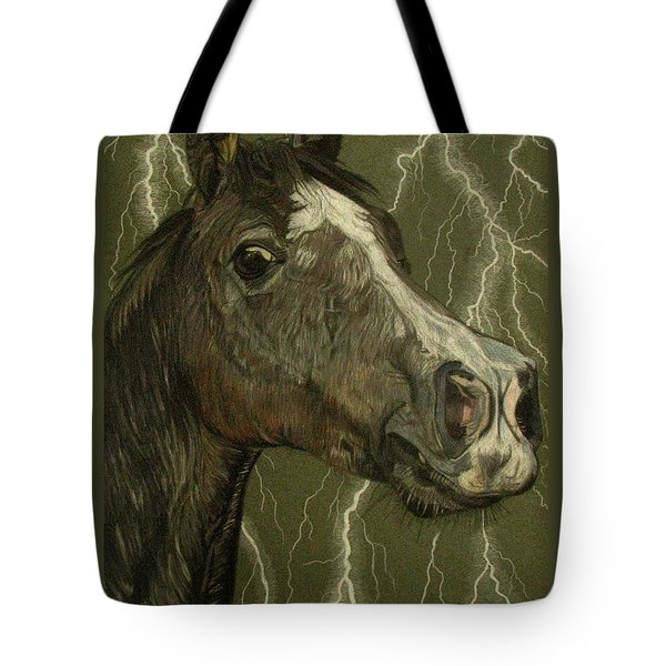 Tote Bag featuring the drawing Fantasy Xanthus by Melita Safran