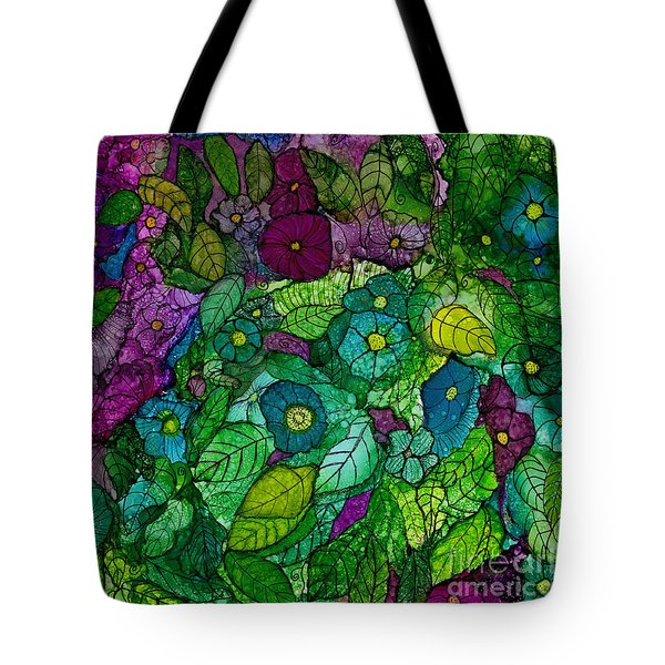 Fantasy Zen Flowers In Alcohol Ink Tote Bag