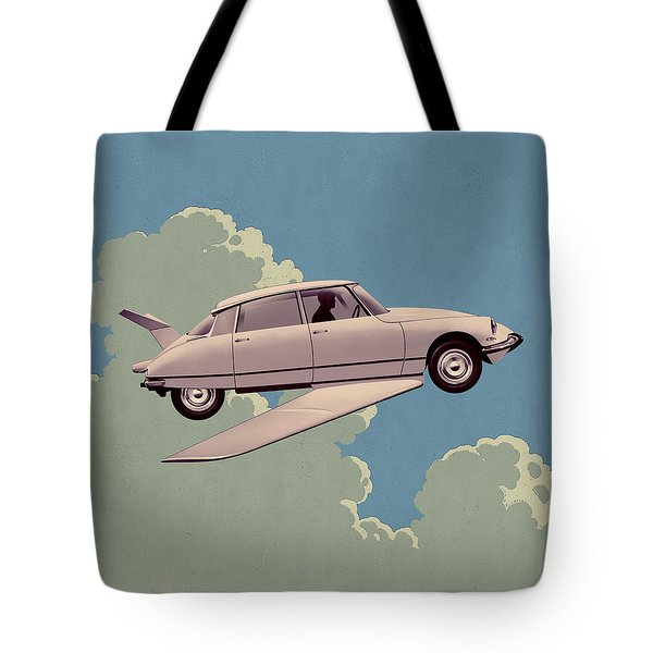 Fantomas 1965 - Right Panel Tote Bag by Udo Linke