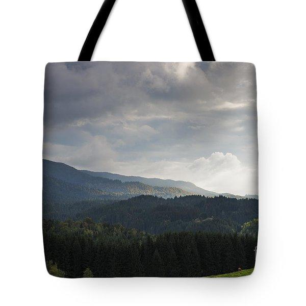 Tote Bag featuring the photograph Far Away by Yuri Santin