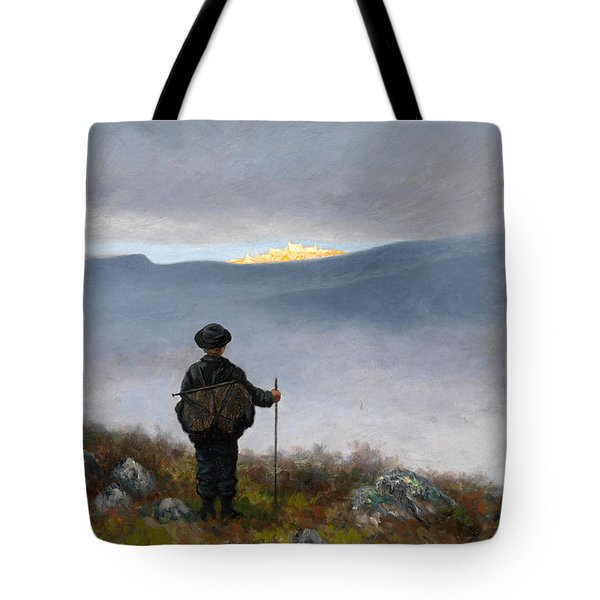 Far Far Away Soria Moria Palace Shimmered Like Gold Tote Bag